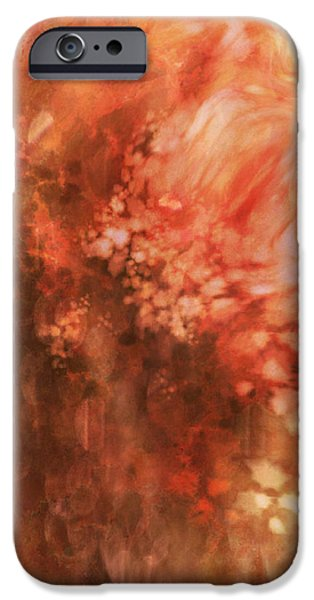 Multimedia iPhone Cases - Nothing Stays The Same iPhone Case by Aurora Art
