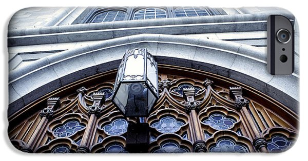Facade iPhone Cases - Notre Dame Basilica - Montreal - Exterior iPhone Case by Claudia Mottram