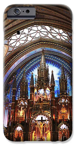 Son Of God Photographs iPhone Cases - Notre Dame Ceiling iPhone Case by John Rizzuto
