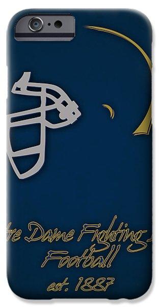 Dunk iPhone Cases - Notre Dame Fighting Irish Helmet iPhone Case by Joe Hamilton