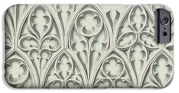 Pre-raphaelites iPhone Cases - Nowton Court iPhone Case by Augustus Welby Pugin