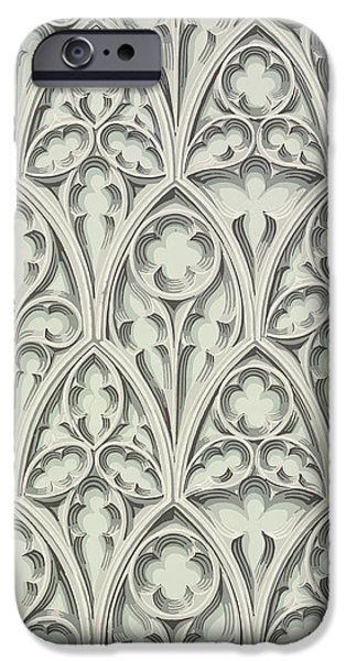 Nowton Court iPhone Case by Augustus Welby Pugin