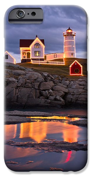 Nubble Lighthouse iPhone Cases - Nubble iPhone Case by Benjamin Williamson