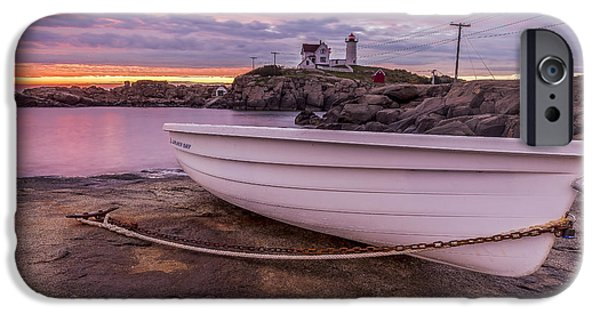 Nubble Lighthouse iPhone Cases - Nubble Dinghy iPhone Case by Tony Baldasaro