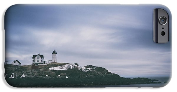 Cape Neddick Lighthouse iPhone Cases - Nubble Head Light  iPhone Case by Michael Ver Sprill
