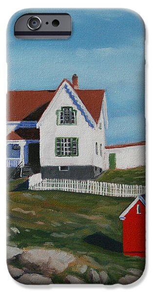 Nubble Light House iPhone Case by PAUL WALSH