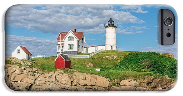 Cape Neddick Lighthouse iPhone Cases - Nubble Light iPhone Case by James Weyand