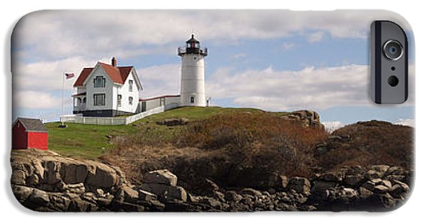 Nubble Lighthouse iPhone Cases - Nubble Light iPhone Case by William Moore