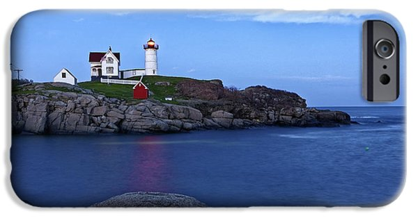 Lighthouse iPhone Cases - Nubble Lighthouse iPhone Case by Kevin Barbera