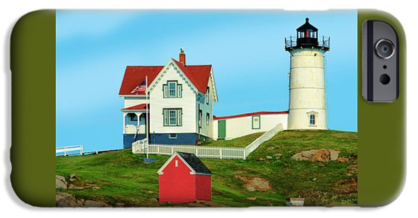New England Lighthouse iPhone Cases - Nubble Lighthouse iPhone Case by Michael Ciskowski