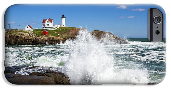 Recently Sold -  - New England Lighthouse iPhone Cases - Nubble Lighthouse iPhone Case by Robert Clifford