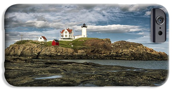Nubble Lighthouse iPhone Cases - Nubble Lighthouse iPhone Case by Robert Fawcett