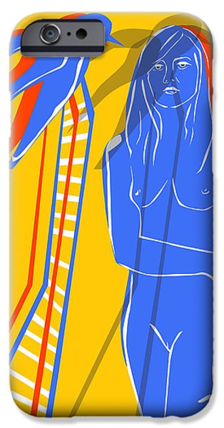 Figures iPhone Cases - Nude iPhone Case by Daniel Eugene Botha