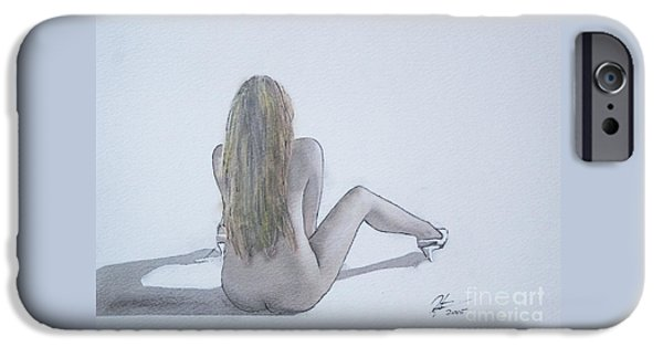 Pastel iPhone Cases - Nude in pastel iPhone Case by Roger Lighterness