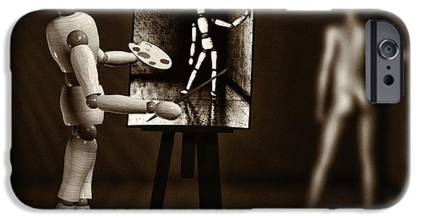 Strange iPhone Cases - Nude Model  iPhone Case by Bob Orsillo