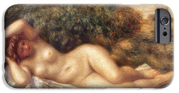 Renoir iPhone Cases - Nude iPhone Case by Pierre Auguste Renoir