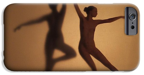 Ballet Dancers iPhone Cases - Nude Shaddow Dancer iPhone Case by Anna Louise Middleton