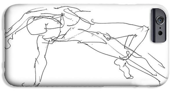 Male Nude Drawing Drawings iPhone Cases - Nude_Male_Drawings_23 iPhone Case by Gordon Punt
