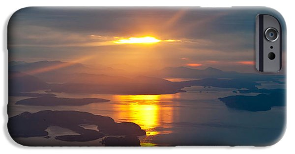 San Juan iPhone Cases - NW San Juans Sunset iPhone Case by Mike Reid
