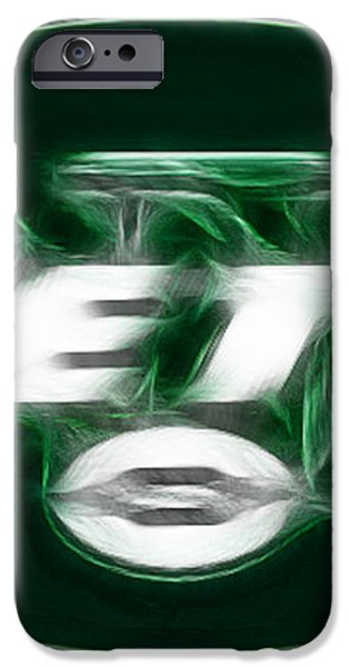 NY JETS fantasy iPhone Case by Paul Ward