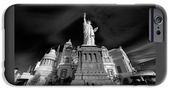 Facade iPhone Cases - NY NY Las Vegas iPhone Case by Steve Gadomski