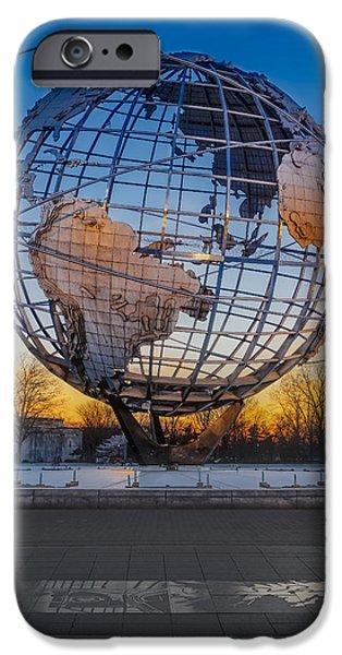 United States iPhone Cases - NY Worlds Fair Unisphere iPhone Case by Susan Candelario