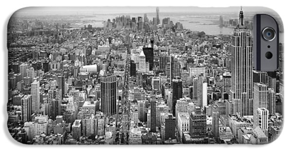 Empire State iPhone Cases - NYC Aerial iPhone Case by Nina Papiorek