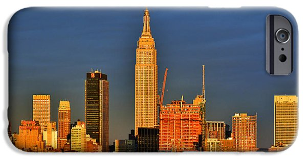 Empire State iPhone Cases - NYC April Sundown iPhone Case by Regina Geoghan