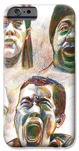 Ghetto Drawings iPhone Cases - NYC Expressions iPhone Case by Al Goldfarb
