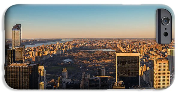 Empire State iPhone Cases - NYC From Above iPhone Case by Michael Ver Sprill