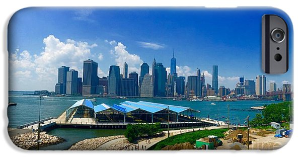 Hudson River iPhone Cases - NYC from Williamsburg iPhone Case by P Jeff Smith