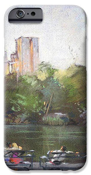 NYC Resting in Central Park iPhone Case by Ylli Haruni