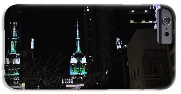 Empire State iPhone Cases - NYC-The Empire Shines Back iPhone Case by Robert McCubbin