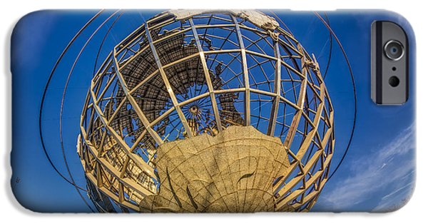 United States iPhone Cases - NYC Worlds Fair Unisphere iPhone Case by Susan Candelario