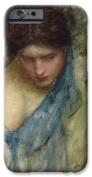 Preparatory Study iPhone Cases - Nymphs Finding the Head of Orpheus iPhone Case by John William Waterhouse