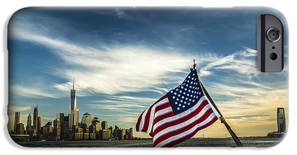 4th July Photographs iPhone Cases - O Beautiful iPhone Case by Reynaldo  Brigantty