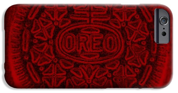 Oreos iPhone Cases - O R E O In Red iPhone Case by Rob Hans