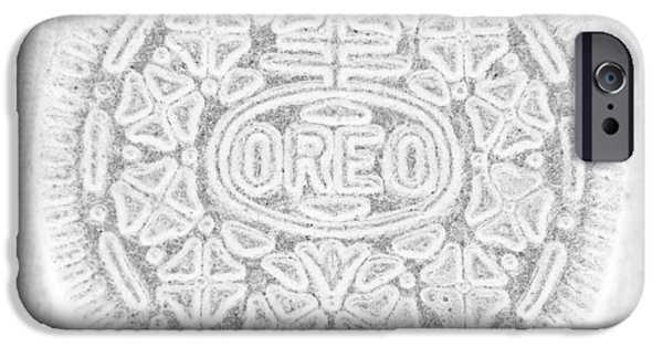 Oreos iPhone Cases - O R E O in WHITE iPhone Case by Rob Hans