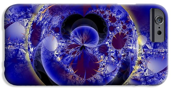 Fractal Orbs iPhone Cases - O iPhone Case by Ron Bissett