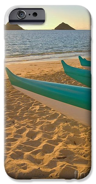 Oahu, Outrigger Canoes iPhone Case by Tomas del Amo - Printscapes