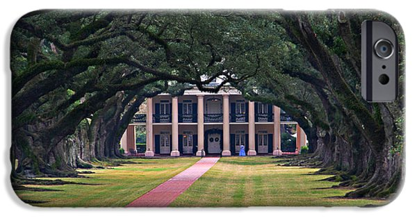 Oak Alley Plantation iPhone Cases - Oak Alley iPhone Case by Perry Webster