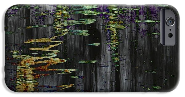 Oak Creek iPhone Cases - Oak Creek Abstract iPhone Case by Karen Jensen