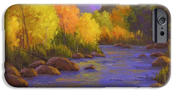 Creek iPhone Cases - Oak Creek Color Show iPhone Case by Cody DeLong