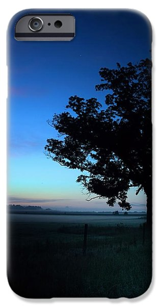 Recently Sold -  - Fog Mist iPhone Cases - Oak Silhouette iPhone Case by A Different Brian Photography