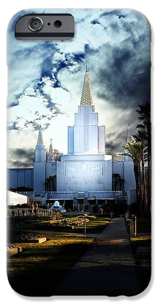 Oakland California Temple . The Church of Jesus Christ of Latter-Day Saints iPhone Case by Wingsdomain Art and Photography