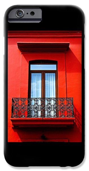 Balcony iPhone Cases - Oaxaca Window iPhone Case by Kristin Huffine