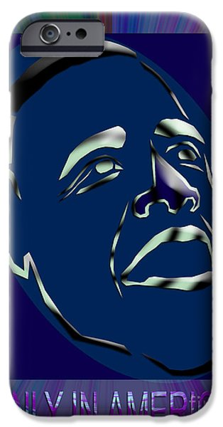 Obama iPhone Cases - Obama 10 iPhone Case by Dalon Ryan