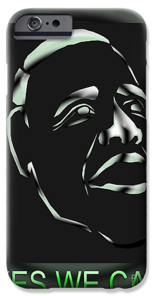 Obama iPhone Cases - Obama 17 iPhone Case by Dalon Ryan