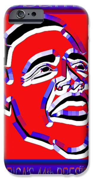 Obama iPhone Cases - Obama 19 iPhone Case by Dalon Ryan
