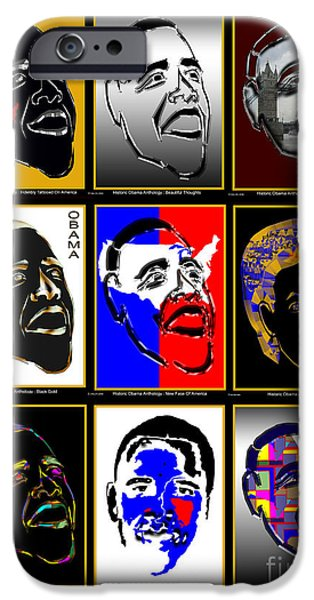 Obama iPhone Cases - Obama 5 iPhone Case by Dalon Ryan